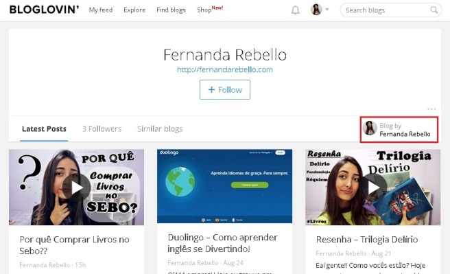 profile blog