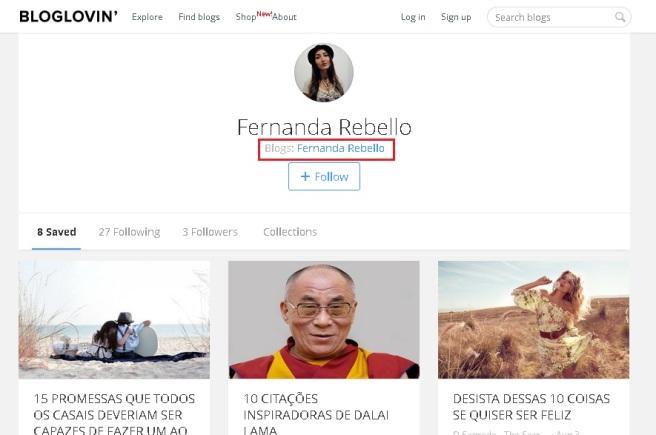 Profile bloglovin